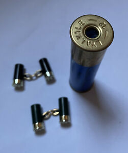 Unusual Christopher Simpson Gold Plated Bullet Cuff Links With Bullet Box