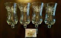 Lot Of 4 HOMCO 1180 DI HUMMINGBIRD Etched/Embossed PEG Votive Candle Holders