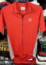 Cannondale Men's Short Sleeve 1/2 Zip Cycling Jersey Red gray Sz small USA MADE
