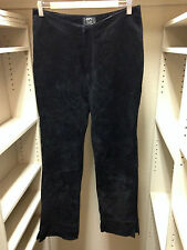 XOXO Genuine Suede Leather Black Pants Size 7