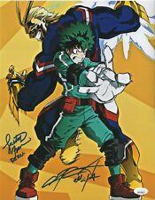 Justin Briner & Chris Sabat Autograph 11x14 Photo My Hero Academia Deku JSA COA