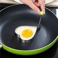 Stainless Steel Pancake Heart Mold Ring Cooking Fried Egg Shaper Kitchen Tool GA
