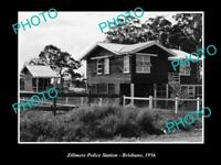 OLD LARGE HISTORIC PHOTO OF BRISBANE QLD, THE ZILLMERE POLICE STSTAION c1956