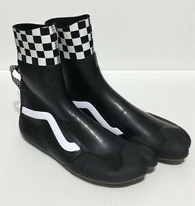 VANS NEW CHECKERBOARD SURF BOOT HI RUBBER WATER SHOES WAKEBOARD MEN 8 -WMNS 9.5