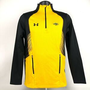 Under Armour NDSU Bison Men's 1/4 Zip Long Sleeve Pullover size S Yellow