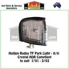 FRONT PARK LIGHTS HOLDEN RODEO TF R/H - CRYSTAL ADR COMPLIANT suit 2001-2003