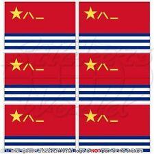 CHINE Marine AirForce Chinois PLANAF Drapeau Cellule Téléphone Autocollant x6