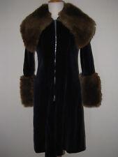 Vintage Aristos velvet jacket S/M english glam coat vtg