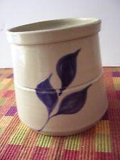 Williamsburg Pottery Cobalt on Grey Stoneware Cachepot