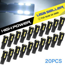 20x Pure White T10 Wedge Canbus LED Light Bulbs 5630SMD Dome Map License Lamp
