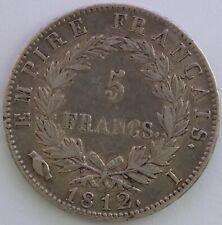 FRANCE 5 FRANCS NAPOLEON EMPEREUR 1812 I TB