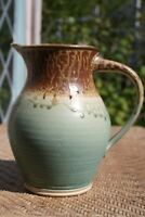 "Michael Obranovich Studio Pottery 8 7/8"" Pitcher Stoneware signed stamped-80 oz."