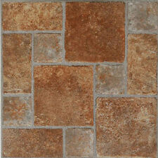 Paver Stone Vinyl Tile 40 Pc Adhesive Kitchen Flooring - Actual 12'' x 12''