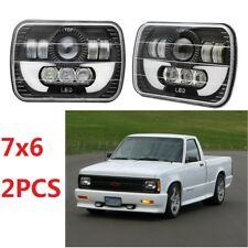 For Chevy S10 Sonoma Truck Upgrade LED Headlight Square Bulbs Hi/Low Sealed Beam