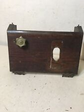 Antique ITR International Time Recorder Punch Clock Oak Front Panel