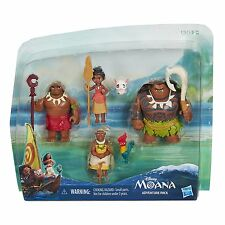Disney Moana Adventure Pack 6 Figures Characters Dolls Toy Set New Free Shipping