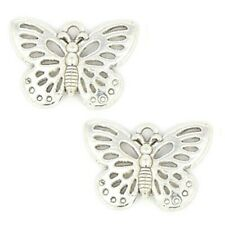 Butterfly Charms Pendant Tibetan Silver  Pack of 10