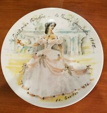Mint Collectible Plate, Scarlet In Crinoline - The Inaccessible Woman 1865