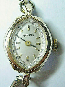 Vintage -- 14k Yellow Gold Benrus Ladies Watch w/Gold Toned Band - Wind-up, Runs