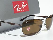 NEW* Ray Ban AVIATOR POLARIZED Bronze Lens Gunmetal Matte Frame RB 3519 004/71
