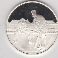 1977 test Cricket Centenario Medalla De Plata En Perfecto Estado