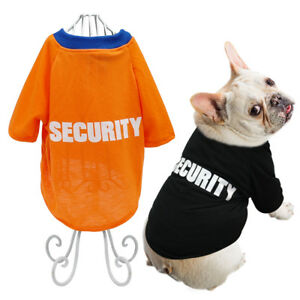 Dog T Shirt Small Medium Summer Security Pet Puppy Clothes French Bulldog Pug
