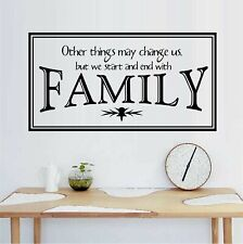 """Other Things May Change Us - Family Vinyl Wall Decal Home Décor 12"""" x 22"""""""