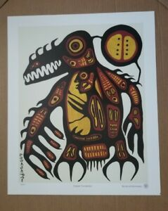 """Vintage  Norval Morrisseau """"Copper Thunder"""" Numbered Lithograph"""