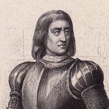 Portrait XIXe Arthur III de Bretagne Connétable de Richemont château de Suscinio