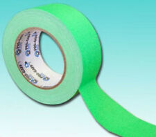5 ROTOLI Pro-Gaff NEON Hi Vis colore Gaffer Nastro UV reattiva 50 mm 25 M Neon Verde