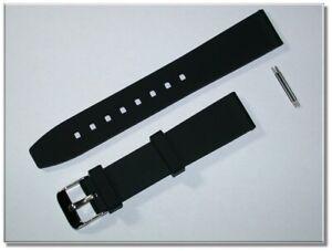 schlicht & schön Sport Silikon Uhrenarmband schwarz glatt 18mm Breit 9776