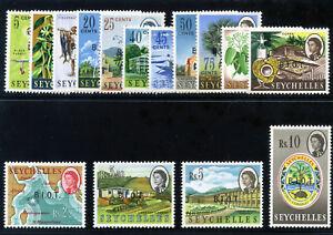B.I.O.T. 1968 QEII Definitives set complete superb MNH. SG 1-15. Sc 1-15.