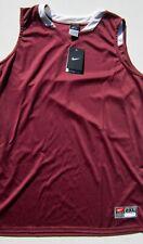 Women's XXL Nike Dri-fit Team Jersey NWT Maroon sleeveless athletic shirt $45