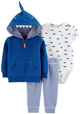 Carter's Baby Boy 3 Piece Shark Hoodie Outfit Set - Size Varies
