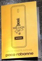 """Lot of 2 Paco Rabanne """"Million Intense"""" Women's EDT France Spray Sample 2x 1.5ml"""