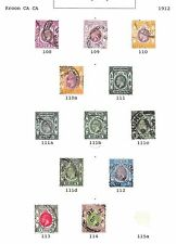 Hong Kong stamps 1912 Collection of 12 CLASSIC stamps  HIGH VALUE!