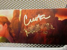 CRISTA McHUGH smudged autograph bookmark Soulbearer Trilogy fantasy author