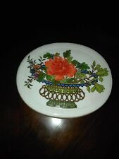Vista Alegre To Mottahedeh Floral Trinket Box Larger Size Chinese Woodblock