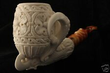 Ultra Deluxe Eagle´s Claw  Genuine Block Meerschaum Pipe in a fitted CASE 5666