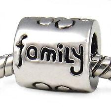 Wholesale Lot 20pcs Family Silver European Bracelet Spacer Charm Beads D498
