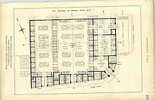 1891, Bury Markets Competition First Design Archibald Neil, Plan, Layout, Stalls