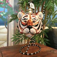 Slavic Treasures - Retired Glass Ornament - Large Tiger - 1999