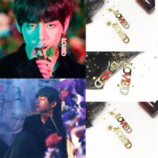 Kpop BTS V Kim Taehyung LOVED Letter Earring Fashion Chic Ear Studs 1PC