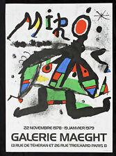 Original Joan Miro Exhibition Lithograph from Galerie Maeght Paris 1979, Modern