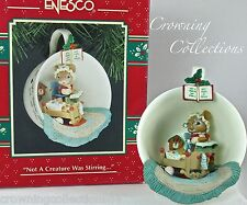 Enesco Not a Creature Was Stirring Cozy Cup Treasury of Christmas Ornament Mice