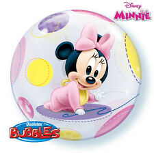 "Baby Mickey & Minnie Mouse Party Decoration Assorted Design 22"" Bubble Balloon"