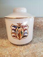 Beautiful Antique CHYP IMPERIAL CUBE CUT Smoke Tobacco Porcelain Humidor Jar