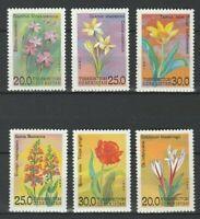 Uzbekistan 1993 Flowers 6 MNH stamps