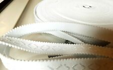 5M White Plush back Bra Lingerie Strapping Elastic WAISTBANDS cuffs underwear