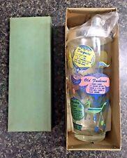 Vintage Large Martini Bottle Cocktail Shaker w/ Drink Recipes & Chrome Top Nos